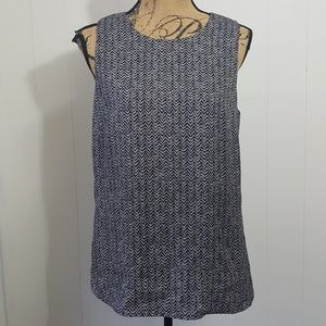 Loft Geometric Chevron Sleeveless Tank Top